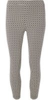 Dorothy Perkins Womens Yellow And White Diamond Crop Skinny Stretch Trousers- Yellow/White