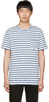 A.P.C. Blue Striped Michael T-shirt