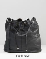 Reclaimed Vintage Leather Bucket Bag