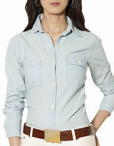 Lauren Ralph Lauren Chambray Pocket Shirt