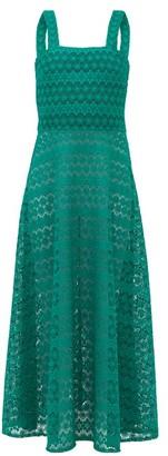 Gioia Bini Lucinda Macrame-lace Maxi Dress - Womens - Green