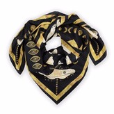 Coleman Louise Gold Moth Silk Scarf