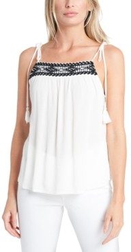 1 STATE Embroidered Tie-Strap Camisole