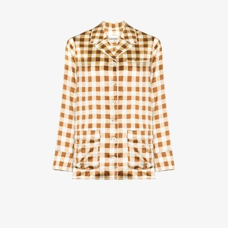 Ganni Check print pyjama shirt