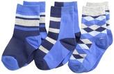 Jefferies Socks Argyle Stripe Crew Socks 3 Pack (Toddler/Little Kid/Big Kid)