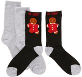Charlotte Russe Oh Snap Holiday Socks - 2 Pack