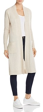 Aqua Cashmere Long Open Cashmere Cardigan - 100% Exclusive