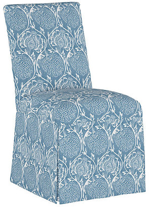 One Kings Lane Owen Slipcover Side Chair - Floral French Blue
