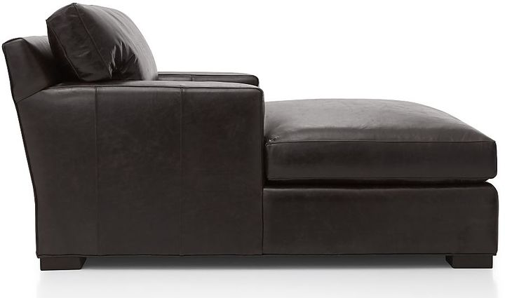 Crate & Barrel Axis II Leather Chaise Lounge