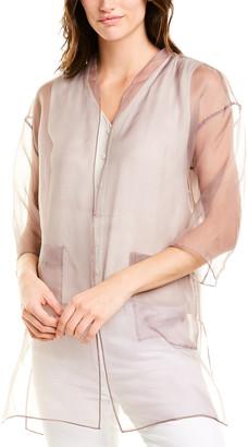 Eileen Fisher Petite Silk Kimono