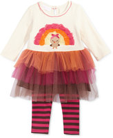 Bonnie Baby 2-Pc. Turkey Tulle Tunic & Striped Leggings Set, Baby Girls (0-24 months)