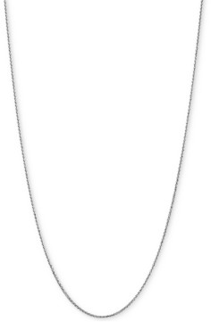 "Italian Gold Wheat Link 18"" Chain Necklace in 14k White Gold"
