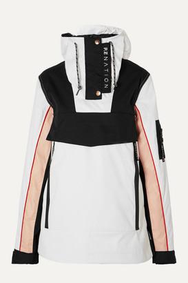 P.E Nation Dc Skyline Printed Hooded Padded Ski Jacket - White