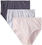 Bali Women's Luxe Cotton 3 Pack Brief Panty