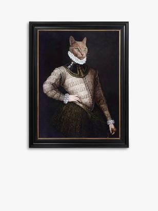 Unbranded Merlin The Cat - Framed Canvas, 41 x 36.5cm, Multi
