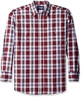 Wrangler Men's Big and Tall Wrinkle Resist Western Two Pocket Long Sleeve Shirt
