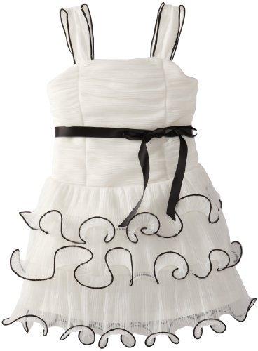 Amy Byer Girls 2-6X Wire Ruffle Dress