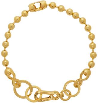 Martine Ali SSENSE Exclusive Gold Broken Ball Chain Choker