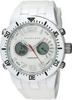 Sean John Men's 'Lenox' Quartz Metal and Silicone Dress Watch, Color: (Model: SJC0170001)