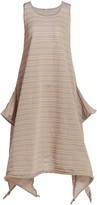 Thumbnail for your product : Issey Miyake Crispy Stripe A-Line Tank Dress