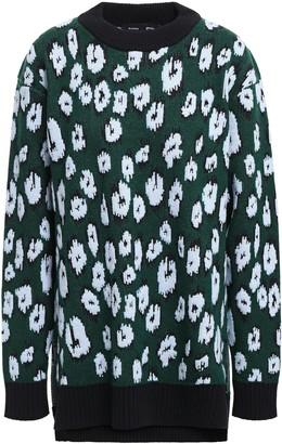 Proenza Schouler Wool-blend Leopard-jacquard Sweater