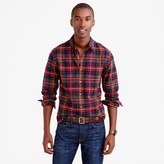 J.Crew Slim oxford shirt in multicolor tartan