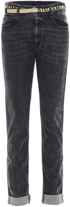 Stella McCartney Belted Straight-Leg Jeans
