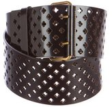 Saint Laurent Leather Perforated Belt