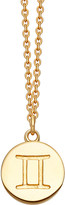 Astley Clarke Gemini Zodiac 18ct yellow-gold plated necklace