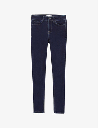 Reiss Lux skinny mid-rise stretch-cotton jeans