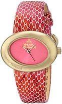 Vivienne Westwood Women's VV014PKPK Ellipse II Analog Display Swiss Quartz Pink Watch