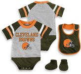 NFL Cleveland Browns 3-Piece Creeper Bib and Bootie Set