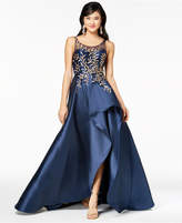 Say Yes to the Prom Juniors' Sequined Illusion High-Low Gown, Created for Macy's