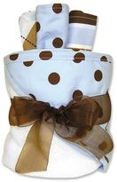 Trend Lab Polka-Dot Towel & Washcloth Gift Cake Set