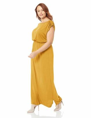 Lyss Loo Women's Timeless Elastic Waist Cap Sleeve Maxi