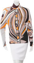 Emilio Pucci Long Sleeve Signature Print Top