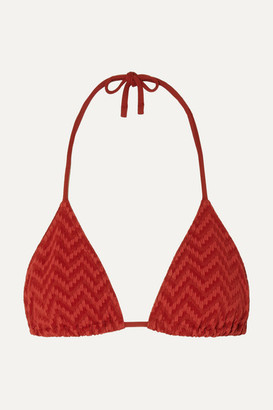 Eres Veston Seersucker Triangle Bikini Top
