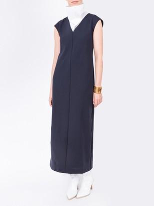 The Row Jeane Dress Dark Navy