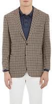 Luciano Barbera MEN'S MINI CHECKED CASHMERE TWO-BUTTON SPORTCOAT