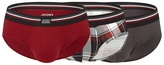 Jockey Pack Of Three Red Cotton Stretch Briefs