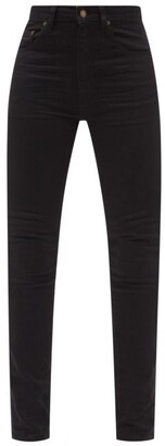 Saint Laurent High-rise Skinny-leg Jeans - Black