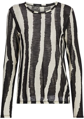 Proenza Schouler Zebra Stripe Long Sleeve T-Shirt
