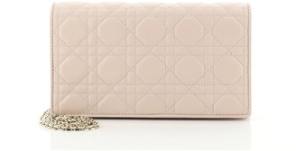 Christian Dior Lady Chain Pouch Cannage Quilt Lambskin