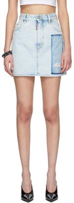 DSQUARED2 Blue Denim Dalma Miniskirt