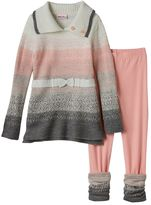 Little Lass Girls 4-6x Tunic Sweater & Leggings Set