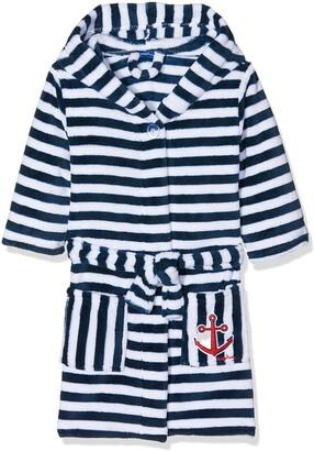Playshoes Boys Fleece Ringel Maritim bathrobe