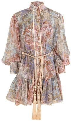 Zimmermann Jacobean Lucky Bound Mini Dress