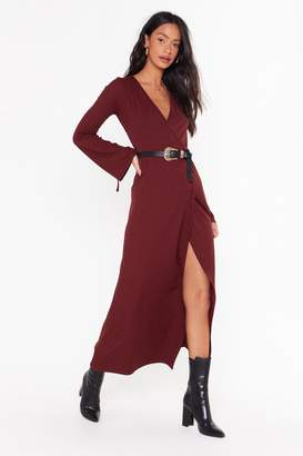 Nasty Gal Womens Time to Wrap Things Up Maxi Dress - red - 14