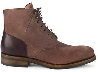 Paul Stuart Textured Leather Ankle Boots