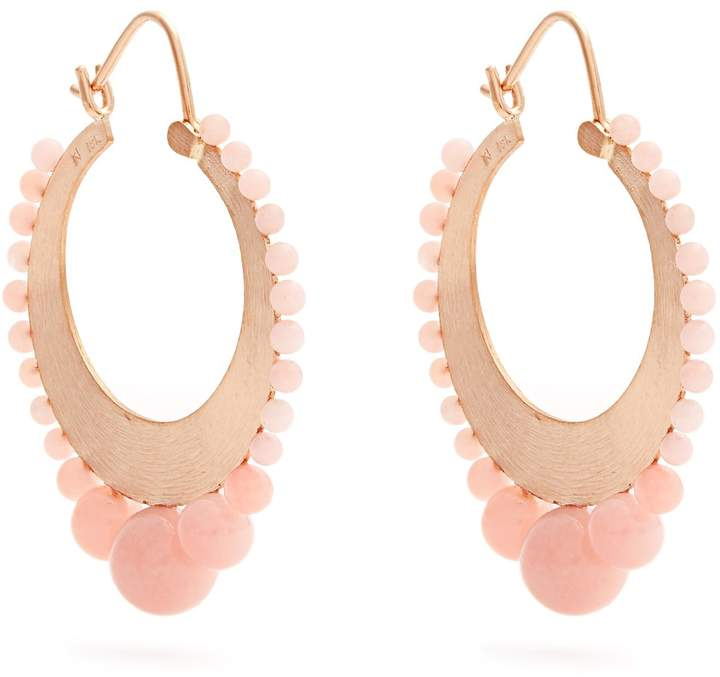 Irene Neuwirth Opal & rose-gold earrings